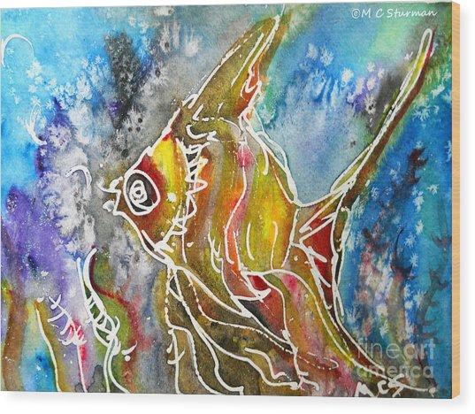 Angel Fish Wood Print by M c Sturman