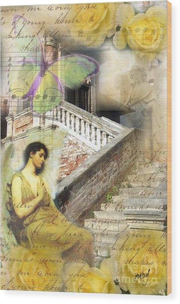 Angel In Waiting Wood Print