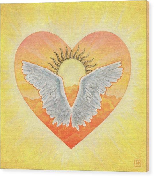 Angel Wood Print by Lisa Kretchman