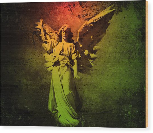 Angel Of Death Wood Print
