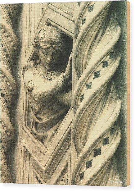 Angel Of The Basilica Wood Print