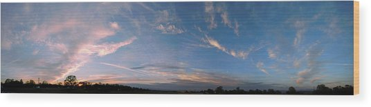 Angelic Clouds Wood Print