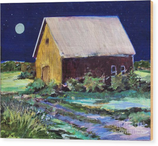 Another Barn Painting Wood Print