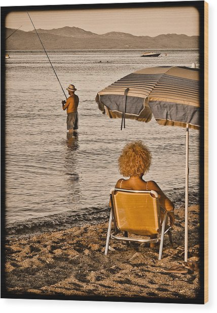 Hanioti, Greece - Another Day In Paradise Wood Print