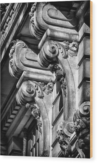 Ansonia Building Detail 18 Wood Print by Val Black Russian Tourchin