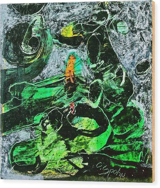 Antibodies In Another Green World Wood Print by Cliff Spohn