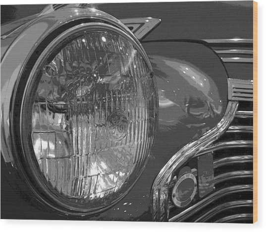 Antique Car Close-up 002 Wood Print