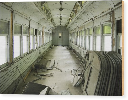 Antique Railcar Wood Print