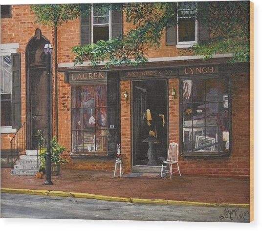 Antique Shop Greenwich Vlg Wood Print