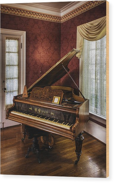 Antique Wein Grand Piano Wood Print