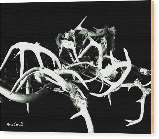 Antler Chain Wood Print