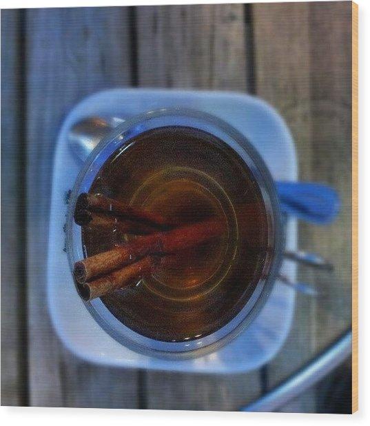 #apple #juice #tea #coffee #cinamon Wood Print