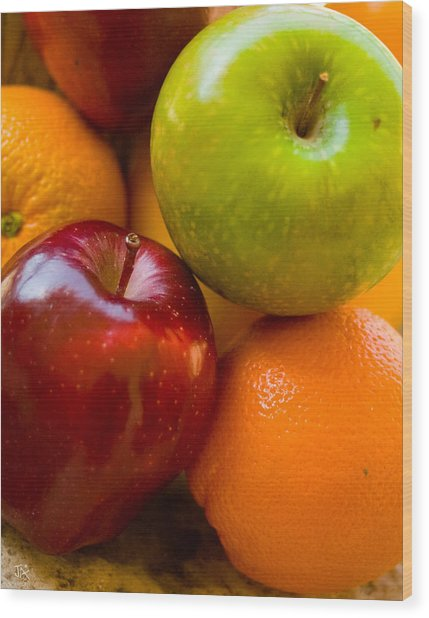 Apples And Oranges Wood Print by Jim  Arnold