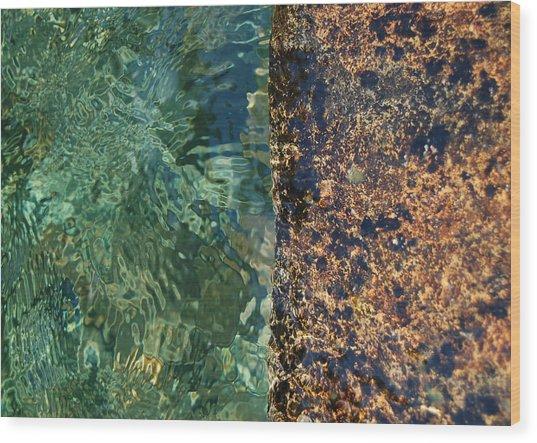 Aqua Petra Wood Print