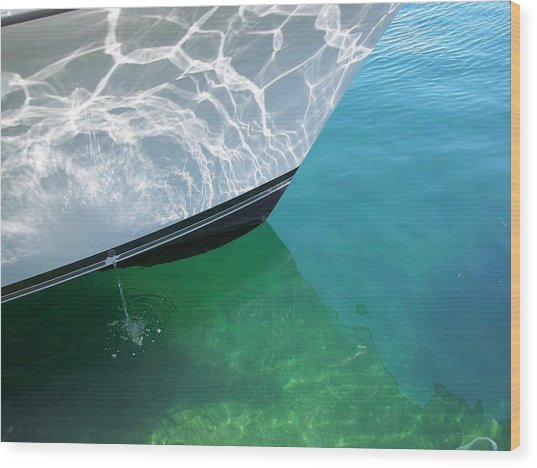 Aqua Reflection Wood Print by Patricia Drohan