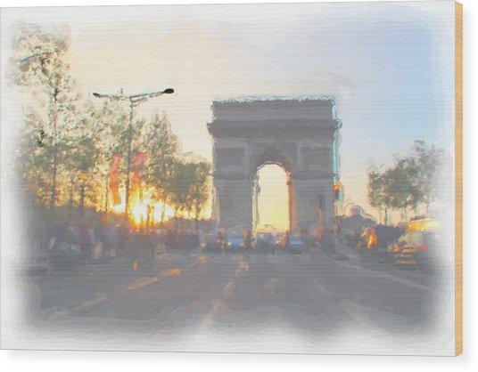 Arc De Triomphe I Wood Print by Thomas Frias