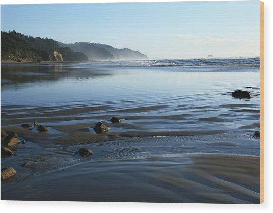 Arcadia Beach Wood Print