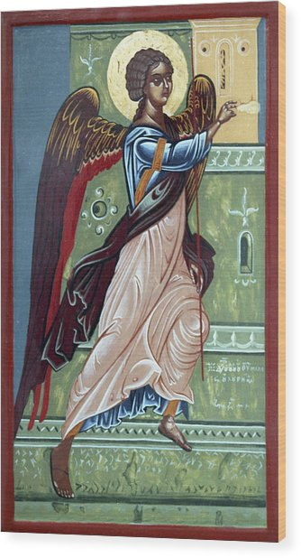 Archangel Gabriel Wood Print by Anton Dimitrov