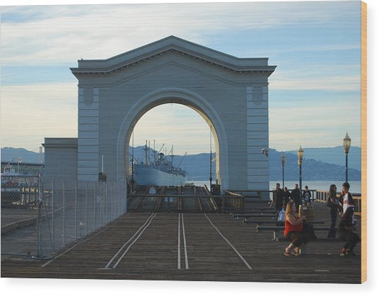 Archway Pier 39 San Francisco Wood Print by Richard Adams