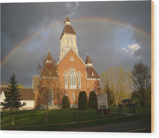 Argyle Presbyterian Church Wood Print by Mark Haley