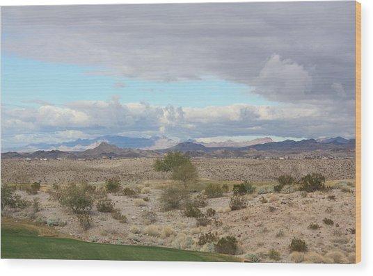 Arizona Desert View Wood Print