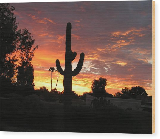 Arizona Sunrise 03 Wood Print