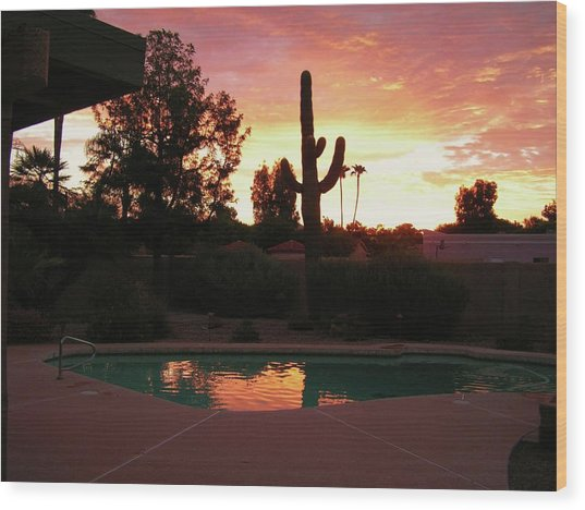 Arizona Sunrise 04 Wood Print