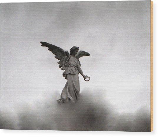 Armless Angel Wood Print