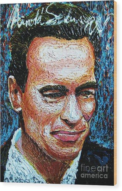 Arnold Schwarzenegger Wood Print by Prasert Jeeraprapot