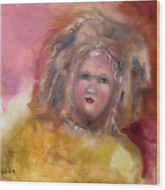 Arranbee Nancy Lee Doll Wood Print by Susan Hanlon