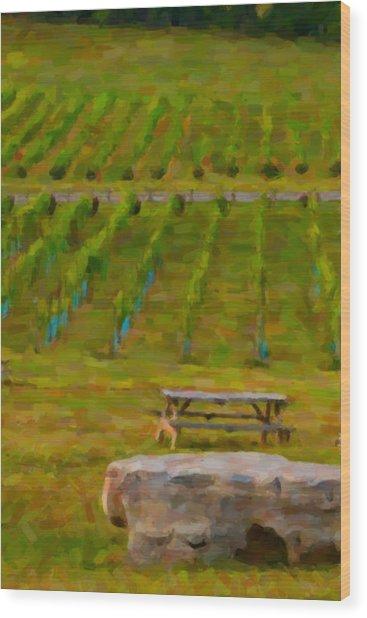 Arrington Vineyards Wood Print by Paul Bartoszek