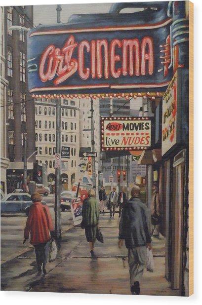 Art Cinema Wood Print