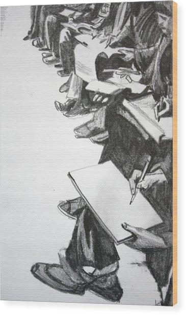 Art Class In Afghanistan Wood Print