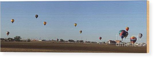 Artesia's Balloon And Bluegrass Festival Wood Print