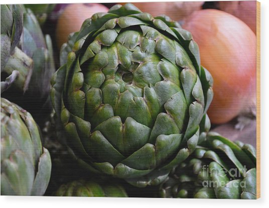 Artichoke Wood Print by Camille Lyver