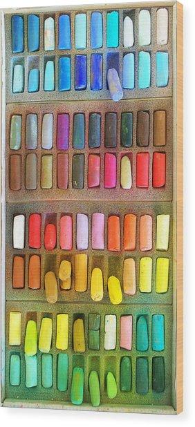 Artists Rainbow Wood Print