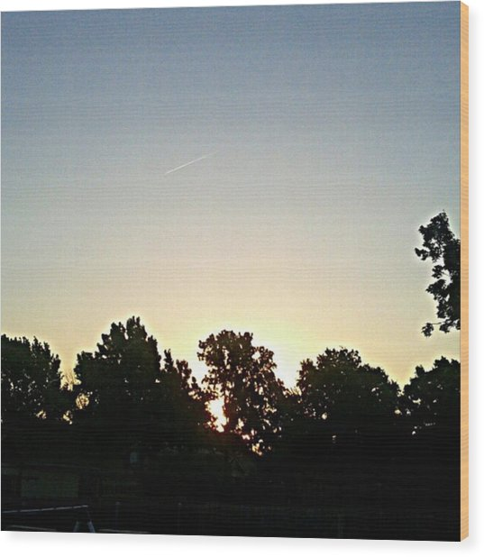 As The Sun Prepared To Rise.... #sky Wood Print by Kel Hill