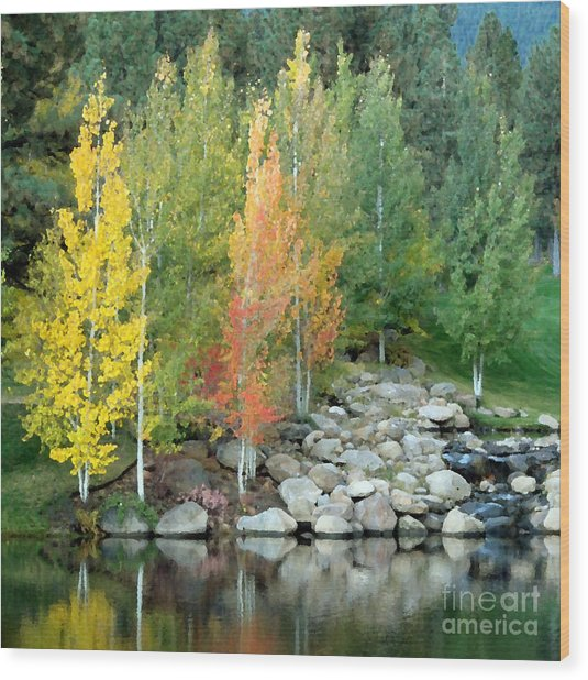 Aspen At Montreux Wood Print