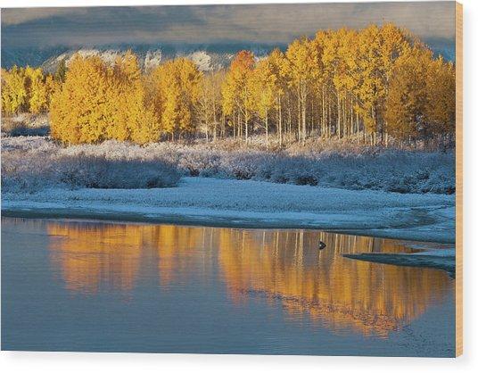 Aspen Sunrise Wood Print