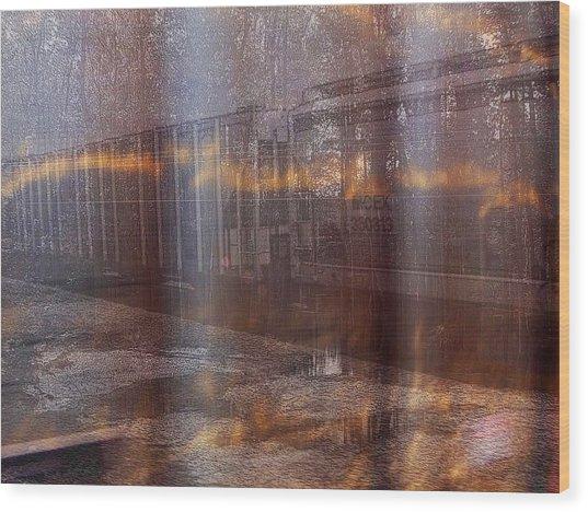 Asphalt Series - 1 Wood Print
