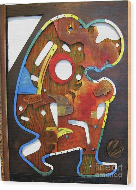 Assemblage Painting A Wood Print
