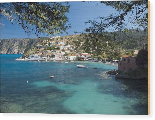 Assos In Kefalonia Wood Print