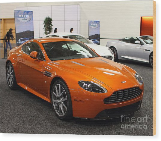Aston Martin Db9 . 7d9624 Wood Print by Wingsdomain Art and Photography