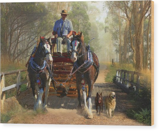 At Durdidwarrah Crossing Wood Print