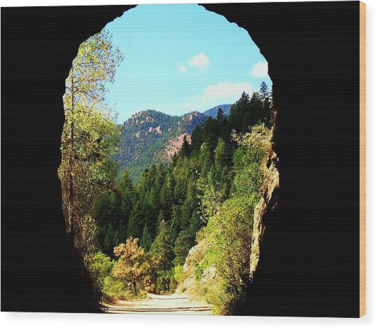 At The End Of The Tunnel Wood Print