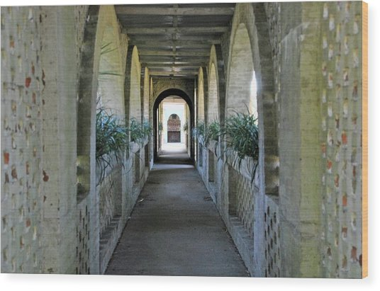 Atalaya Covered Walkway Wood Print
