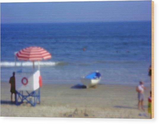 Atlantic City Lifeguard Station Wood Print