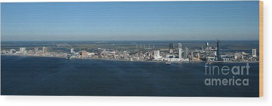 Atlantic City Skyline Panoramic Wood Print