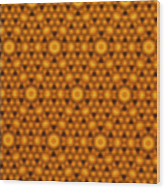 Atomic Surface Of A Silicon Crystal Wood Print by Northwestern University