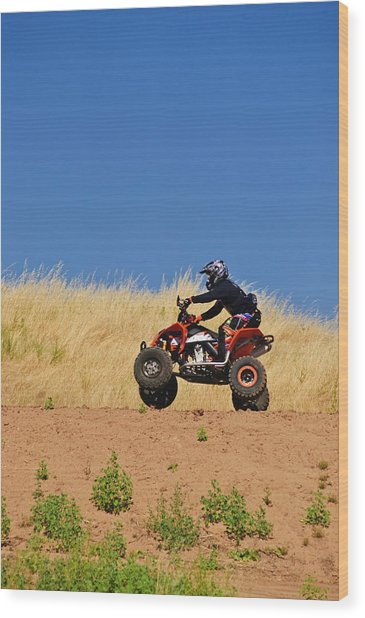 Wood Print featuring the photograph Atv Action by Sherri Meyer